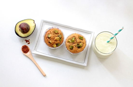 Avocado Cream Cheese Muffins
