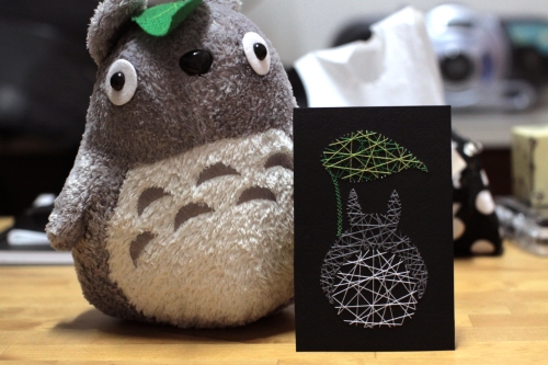 DIY Totoro Stitch Card
