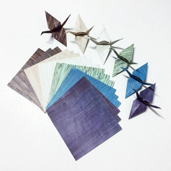 "DIY ""Wooden"" Paper Cranes"