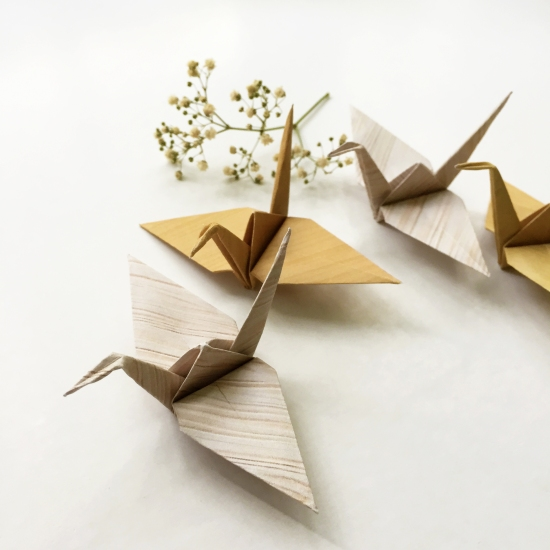 DIY Wooden Paper Cranes